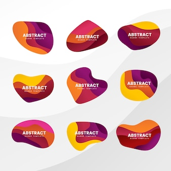 Badge abstrait
