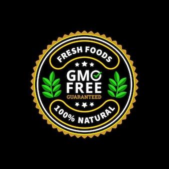 Badge d'aliments frais garantis sans gluten
