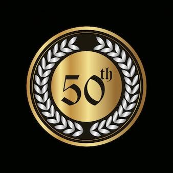 Badge d'anniversaire de 50 ans