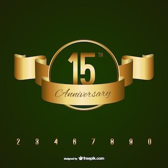 Badge anniversaire d'or
