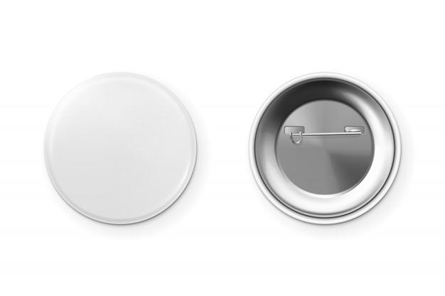Badge bouton blanc.