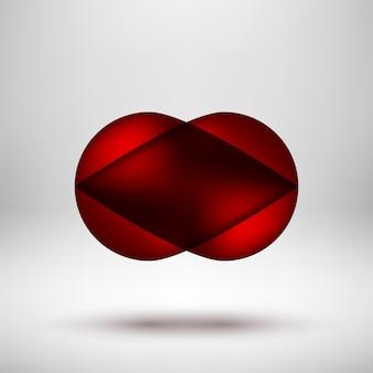 Badge à bulles abstrait rouge