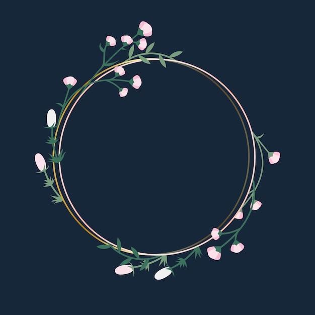 Badge de cadre floral