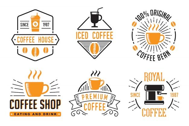 Badge de café et logo