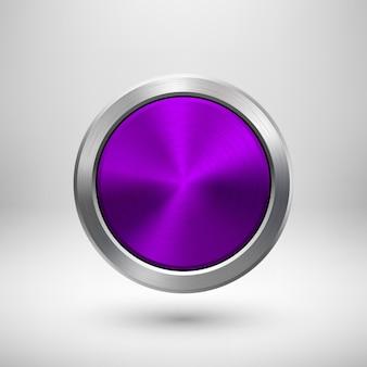 Badge de cercle de technologie violet, violet