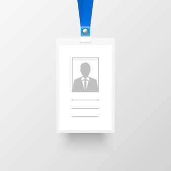 Badge chanter le visage sur le fond gris. illustration vectorielle