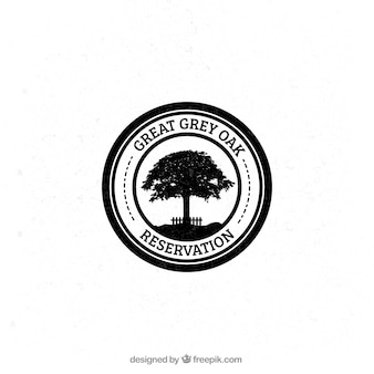 Badge chêne gris
