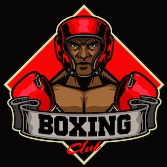 Badge de club de boxe