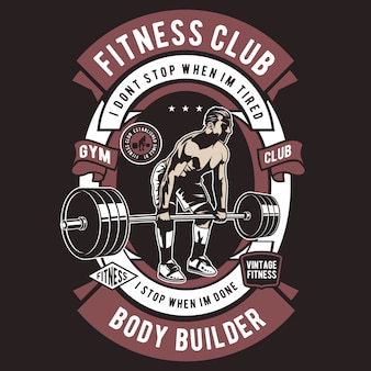 Badge de club de fitness