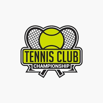 Badge de club de tennis