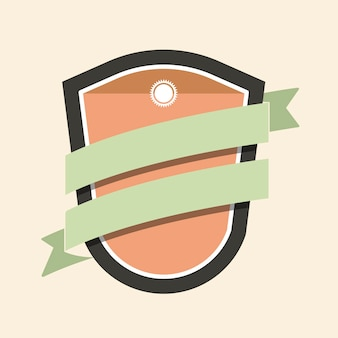 Badge coloré agrémenté d'une bannière