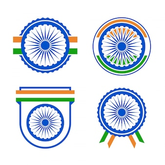 Badge de la fête de l'indépendance de l'Inde