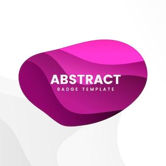 Badge design abstrait en rose