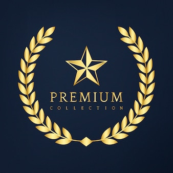 Badge design collection premium
