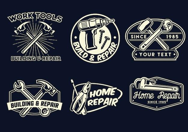 Badge design ouvrier