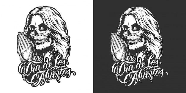 Badge dia de los muertos