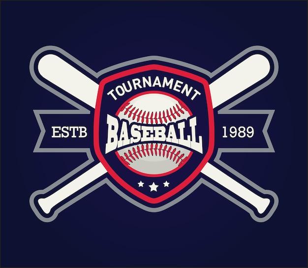 Badge du club de baseball