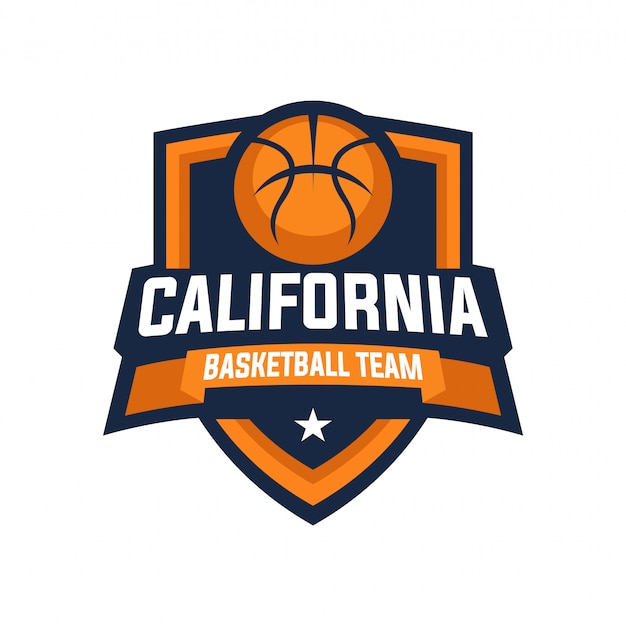 Badge du logo de l'équipe de basket-ball de californie