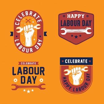 Badge du logo de la fête du travail