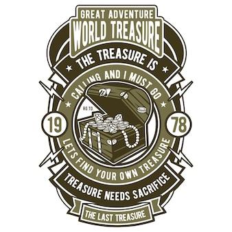 Badge du trésor mondial