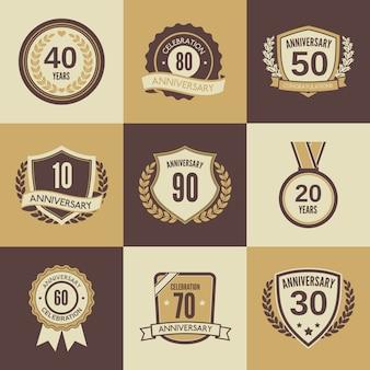 Badge ou étiquette d'anniversaire