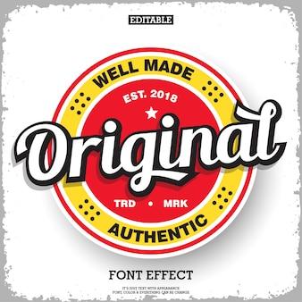 Badge d'étiquette d'origine pour le logo du produit avec un style rétro