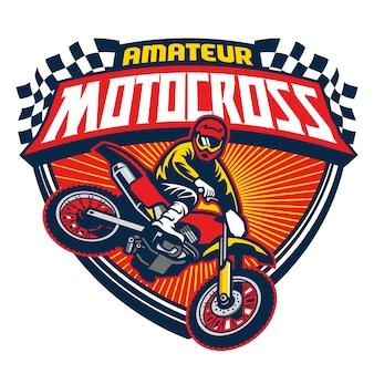 Badge d'événement de motocross