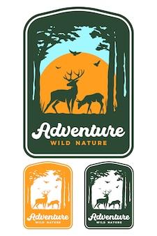 Badge extérieur en trois couleurs