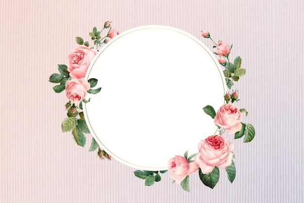 Badge floral encadré