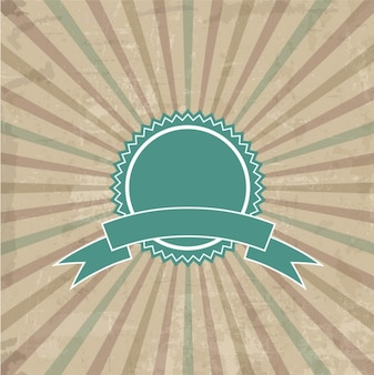 Badge sur fond sunburst