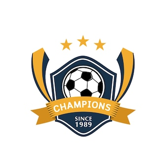 Badge de football, illustration vectorielle
