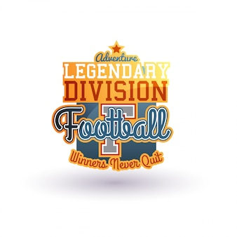 Badge de football de vecteur