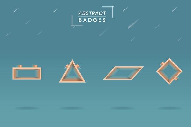 Badge géométrique