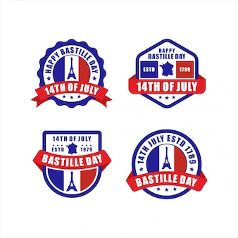 Badge happy bastille day 14 juillet collection paris france