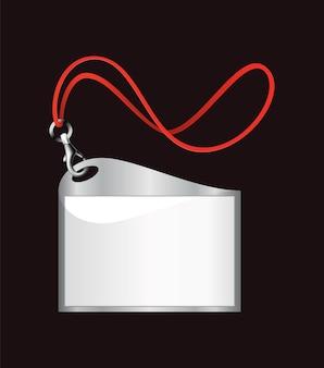 Badge d'identification vierge. porte-nom en plastique, badge d'identification du laissez-passer.