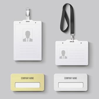 Badge d'identité. ensemble