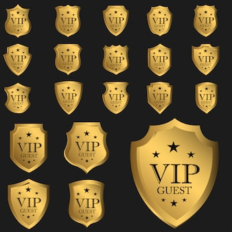 Badge invité vip luxe