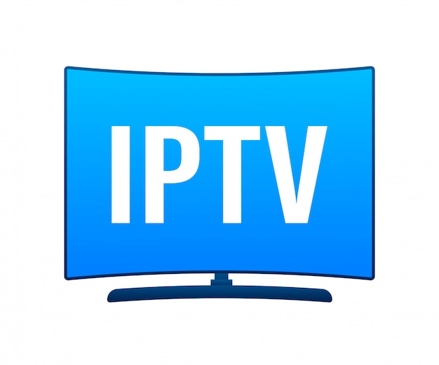 Badge iptv, icône, logo. illustration.