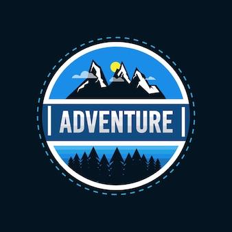 Badge logo aventure