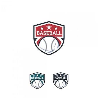Badge de logo de baseball
