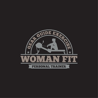 Badge logo fitness & gym