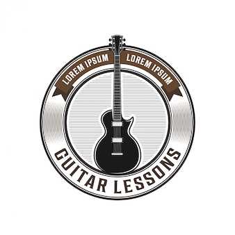 Badge logo guitare