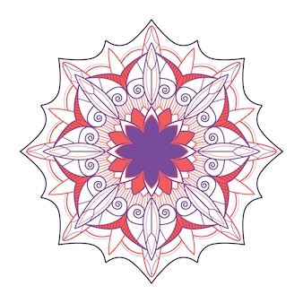 Badge de mandala indien