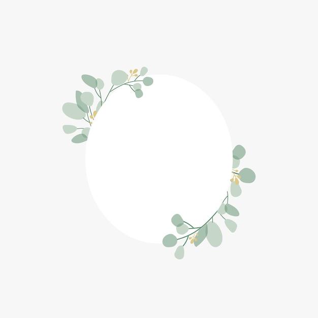 Badge de mariage botanique