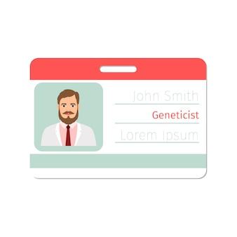 Badge de médecin spécialiste généticien