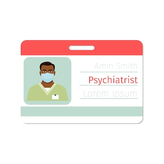 Badge de médecin spécialiste en physiatre