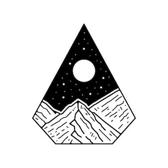 Badge monoline d'extérieur tatto