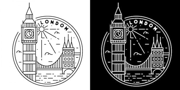 Badge monoline extérieur vintage