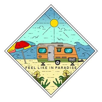 Badge monoline extérieur