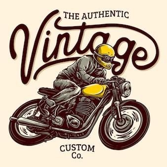 Badge de moto personnalisé classique